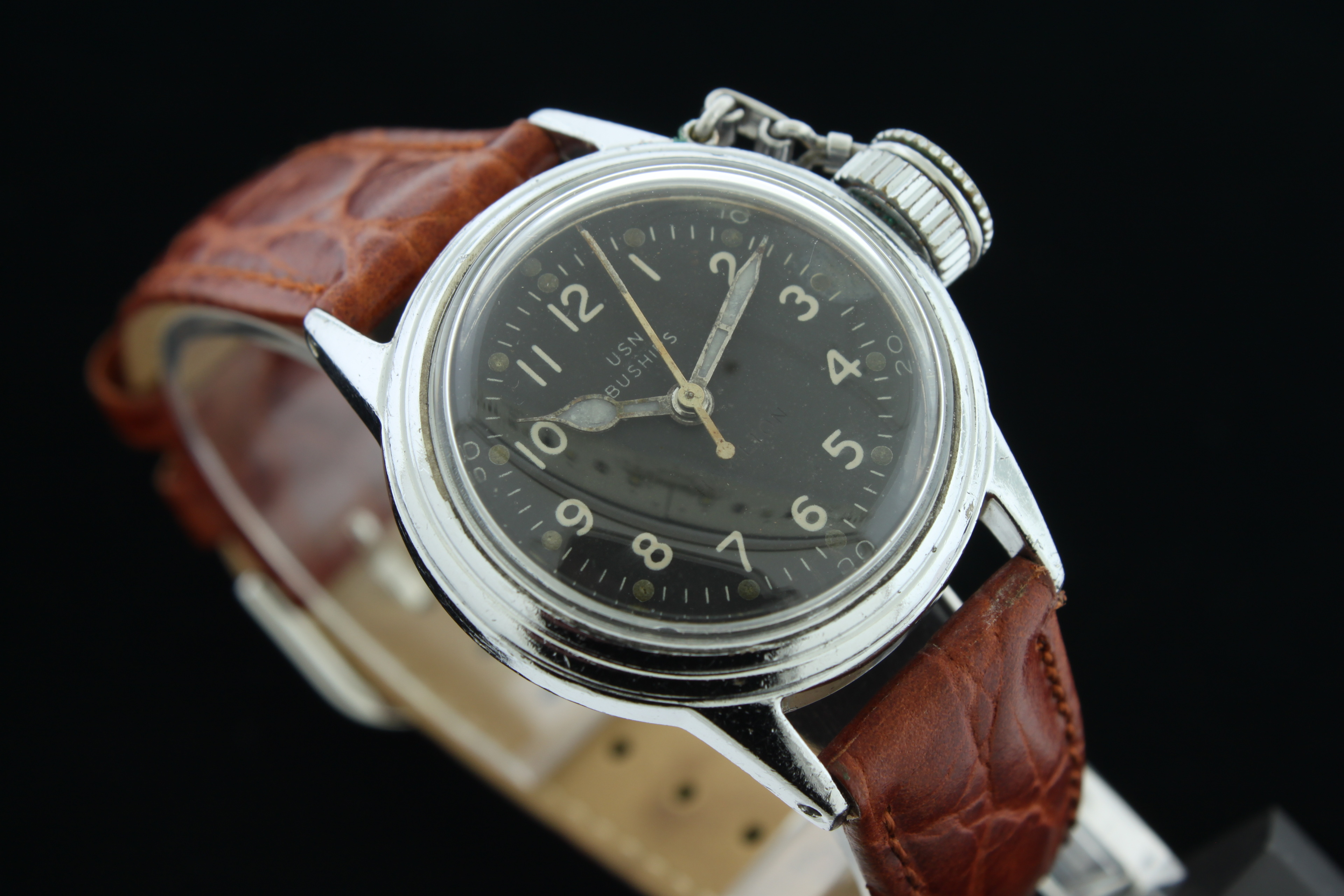 Hamilton usn buships military canteen dive watch sold for Hamilton dive watch
